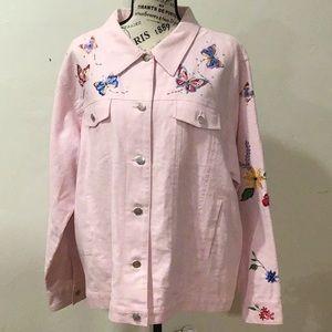 Quaker Factory Pink Denim Jacket